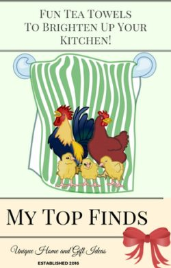 Kitchen Towels With Roosters And Chicken