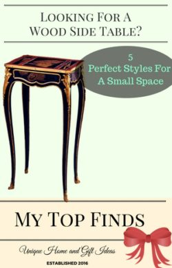 Wood Side Tables For A Small Space